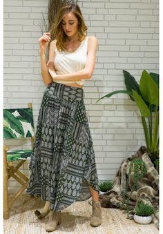 Laguna Moss Maxi Skirt