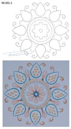 08.001.1 borduren op papier 08.001.1 embroiderie on paper 08.001.1 broderie sur papier