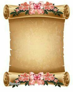 Borders For Paper Flower Background Wallpaper, Flower Backgrounds, Paper Background, Royal Background, Frame Border Design, Page Borders Design, Old Paper, Vintage Paper, Paper Paper