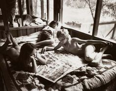 Sally Mann. Her works are perfect parts childhood innocence and Southern Gothic disturbing.