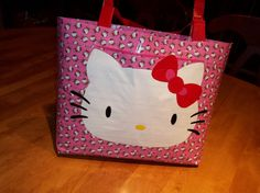 Hello Kitty Duck Tape Tote Bag With Pocket by lahanap on Etsy, $25.00