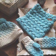 My cozy knits (handknitted snood, hat, mittens by Svetlana Selivanova )
