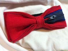 PAPILLON Rosso e Blu con cerniera impunturato  Bow Tie di Idillyum