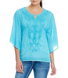 34201ffadc7 Reba Sahara Oasis Embroidered Poncho  Dillards