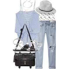 Untitled #17512 by florencia95 on Polyvore featuring Olive + Oak, rag & bone/JEAN, Ancient Greek Sandals, Proenza Schouler, ASOS, Monica Vinader, Jules Smith, Forever 21 and BP.