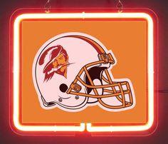 Tampa Bay Buccaneers Helmet 1976 - 1996 Neon Light Sign