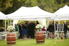 Royal Botanic Gardens  Wedding Zone setup with Instant Marquees
