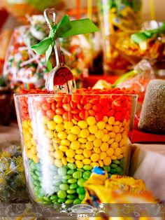 Orange, Yellow, Green Candy details. Photo By: FR Photo