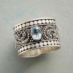Topaz Fern Ring Size 9 $88