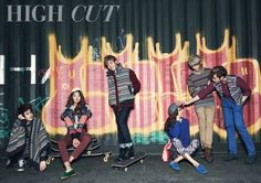 "B2ST's Yoseob, Kikwang, Junhyung, and Dongwoon in ""High Cut"""