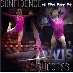 Confidence is the  key to success  #gymnasticsforever #gymnastics
