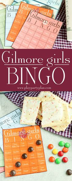 These Gilmore Girls bingo cards would be perfect for a party to watch the new show on Netflix on Black Friday! Who will we see first - will it be Rory, Lorelai, and Luke or maybe some junk food like pop-tarts. Doesn't matter if you're Team Logan, Jess, or