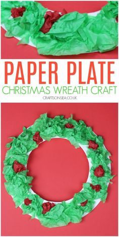 Paper Plate Christmas Wreath Craft - Easy paper plate Christmas craft for kids that's perfect for toddlers and preschoolers - Christmas Activities For Toddlers, Preschool Christmas Crafts, Christmas Arts And Crafts, Christmas Crafts For Toddlers, Winter Crafts For Kids, Easy Crafts For Kids, Toddler Crafts, Holiday Crafts, Simple Christmas