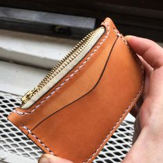 Nice tan lines on this harness leather zip pouch. Best Tan, Tan Lines, Natural Leather, Leather Working, Leather Craft, Hand Stitching, Zip Around Wallet, Etsy Seller, Artisan