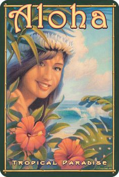 Aloha. Many of the small tourist shops around the islands sell these replica postcards. Hawaii new or old, makes no difference; it's still beautiful.