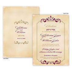 Greta Wedding Invitations by TheAmericanWedding.com