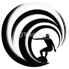 Vector Art : Surfing on a big wave Surf Drawing, Beach Drawing, Free Vector Graphics, Free Vector Art, Surf Tattoo, Water Images, Silhouette Painting, Abstract Waves, Surf Art