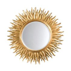 Italian carved gilt sunburst mirror