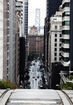 Streets of San Francisco and the Bay Bridge San Francisco California, California Dreamin', San Francisco Bay, Northern California, Oh The Places You'll Go, Places To Travel, Places To Visit, Wyoming, Lac Tahoe