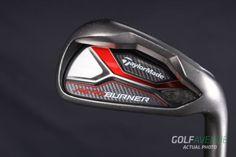 TaylorMade Aeroburner Iron Set 4-9 and GW Stiff RH Steel Golf Clubs #7261