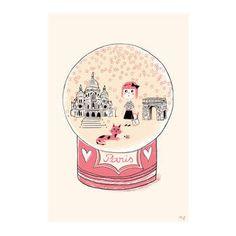 Carte Postale Petit Paris Rose - Marion Piffaretti