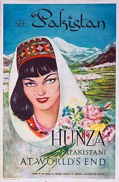 See Pakistan | Vintage travel poster #Travel #Posters #Vintage #Affiches #Carteles #Viajes #Exotic #Pakistan