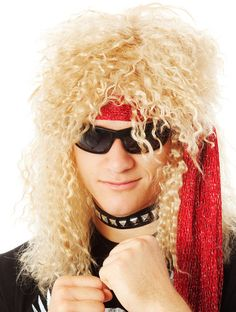 80's Heavy Metal Rocker Blonde Costume Wig HIGH QUALITY CLASSIC 1980's HEAVY METAL ROCKER COSTUME WIG  Let your inner headbanging rocker surface and play that air guitar for all it's worth!  Also makes a perfect Nick Cummins (The Honey Badger) wig!  The high quality fibre is so amazingly soft and sits comfortably on your head.  You will look and feel amazing wearing this wig.   www.thewigoutlet.com.au