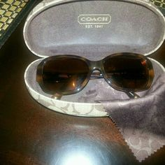 1% Authentic COACH sunglasses (prescription) In prestine condition! Made in china Brown/tortoise color. RT eye strength -3.25.  LFT eye strength -3.50 worn only a hand full of times! CAN SAVE YOU FROM PAYING HIGH COST IF YOU KNOW YOUR PRESCRIPTION! Coach Accessories Sunglasses
