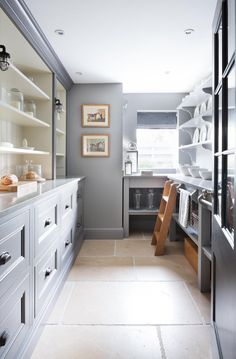 Our favorite Dark Countertops — STUDIO MCGEE; LOW LADDER RAIL FOR A SHORT STEP LADDER