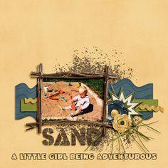 6/25/13 Gotta Pixel Digital Scrapbook LOTD: Today's Layout of the Day is sand by Berniek.