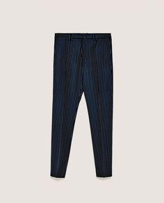 6681d3c40ab5 Obrázok 6 z SÚPRAVOVÉ NOHAVICE NAVY od spoločnosti Zara Blue Striped Suit