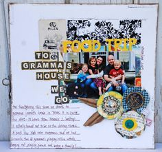 Road Trip by Ginger John, a throwback to  the March 2010 scrapbook kit from Little Black Dress Kit Club.     scrapbook, 12x12 layout, little black dress kit club
