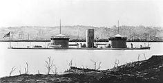 """U.S.S. Onondaga (1864).  The Onondaga was a two-turret monitor ironclad, among the third generation commissioned by the Union -- which went on to order the world's first three-turret monitor, the USS Roanoke, during the Civil War; the Roanoake, however, was a conversion of an existing wooden ship, while the Onondaga was new construction, all-iron, and a more satisfactory warship in every way. Onondaga was a large armored ship of the first class, packing 8"""" and 15"""" artillery."""