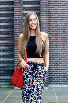 colorful leopard pants | by Fabes Fashion - A Los Angeles based Life and Style Blog #leopard #colorful #celine #fashionblogger #losangeles #croptop