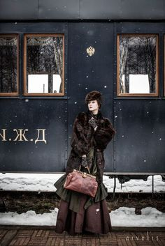 Anna Karenina in Steampunk Style Orient Express, Pinup, Ana Karenina, Steam Girl, Moda Vintage, Russian Fashion, Train Rides, Train Trip, Costume