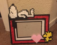 Snoopy and Woodstock Perler Bead