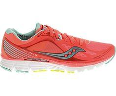 Award Winning #Saucony #Kinvara 5 Running Shoes in high visibility coral