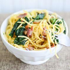 pasta carbonara, springtim pasta, italian pasta