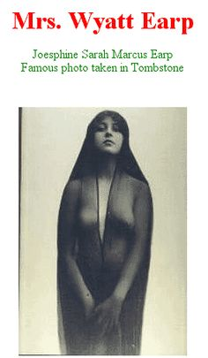 How about THEM apples? This photo of Josephine Earp ...