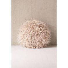 Willow Faux Fur Round Pillow ($49) ❤ Liked On Polyvore Featuring Home, Home