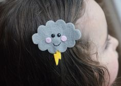 Storm Cloud Hair Clip Meet Miss Stormie by CravingCuteness on Etsy, $3.50