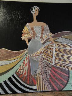 Cuadro original hecho con estaño y pintura acrílica.