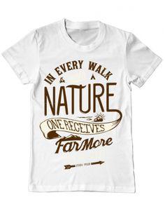 Walk of Nature Walking, Nature, Mens Tops, T Shirt, Design, Women, Fashion, Supreme T Shirt, Moda