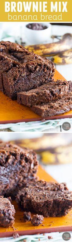 brownies and banana bread? This delectable Brownie Mix Banana Bread ...