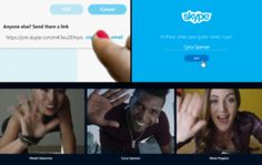 Invite anyone to join a conversation through Skype for Web