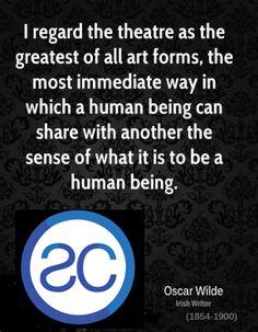 Oscar Wilde quote on theatre