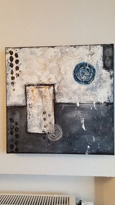 Yvonne Fuchs, abstracte Malerei auf Leinwand, 50cm x50cm x 3,8cm, 2017