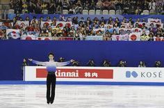 Yuzuru Hanyu of Japan performs during the Mens Short Program event in the ISU World Figure Skating Championship 2015 held at the Oriental Sports Center...