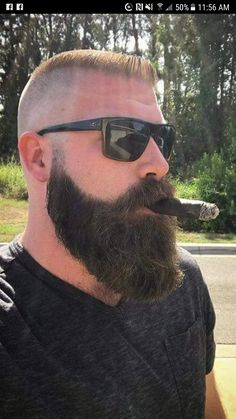 1337 best flattop images in 2019 Sexy Beard, Epic Beard, Beard Love, Full Beard, Hot Beards, Grey Beards, Flat Top Haircut, Best Beard Oil, Man Smoking