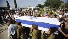 Funeral for Israeli soldier, July 22, 2014.